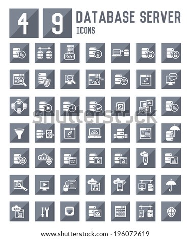 49 Database server icons,vector  - stock vector