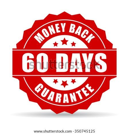 60 days money back guarantee icon - stock vector