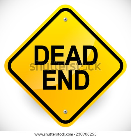 """Dead end"" road sign - stock vector"