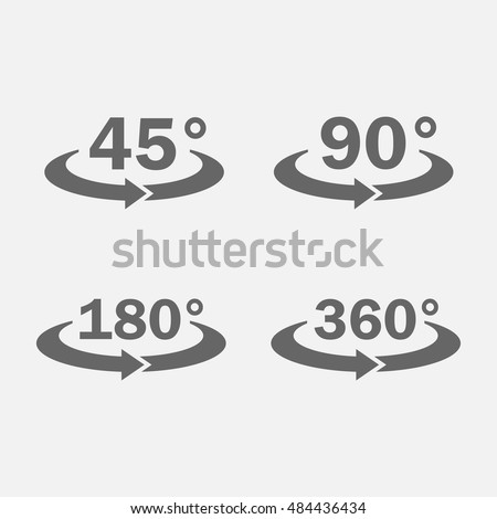 45 90 180 360 Degrees View Stock Vector Hd Royalty Free 484436434