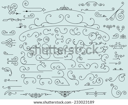 65 design elements - stock vector