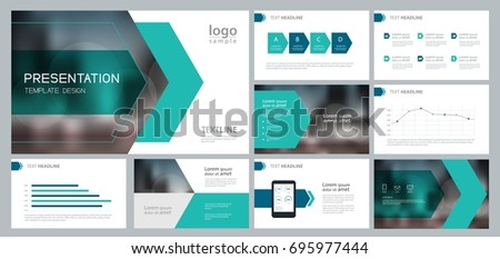 Design Template Business Presentation Page Layout Stock Vector ...