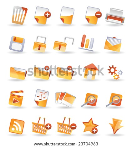 25 Detailed Internet Icon - stock vector