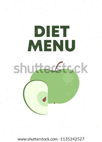 diet menu apple banner template restaurants stock vector royalty