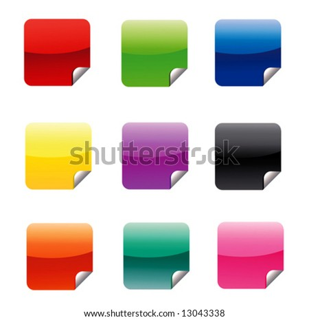 9 Different Colored Web Stickers