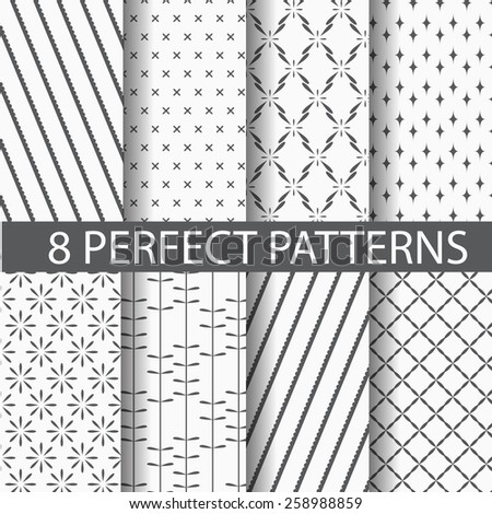 different  patterns,  Pattern Swatches, vector, Endless texture can be used for wallpaper, pattern fills, web page,background,surface - stock vector