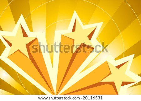 different type of stars - stock vector