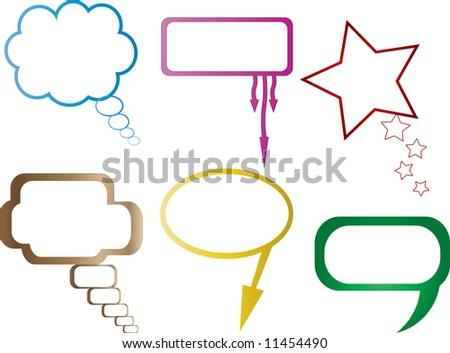 6 different vector dialog balloon - stock vector