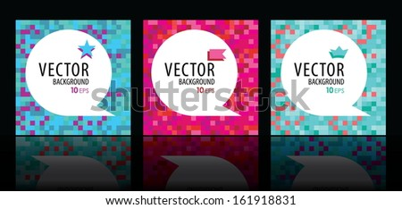 3 digital color background for design - stock vector