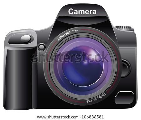 Digital Photo Camera. Vector EPS-10. - stock vector