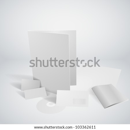3 dimensional Set of corporate identity templates - stock vector
