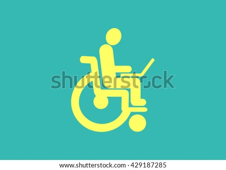 Disabled icon Vector.  - stock vector