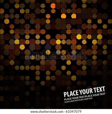 disco light dots pattern on dark background , Vector illustration - stock vector