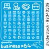 64 doodle series | business ,internet,communication,office icon set - stock vector