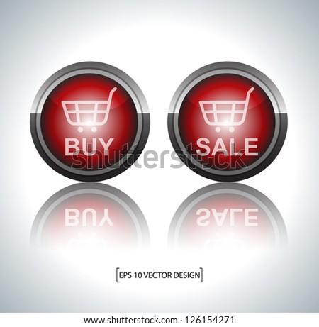 E-commerce  online sign on white - stock vector