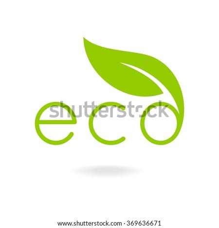 Eco-icons. Caption eco. - stock vector