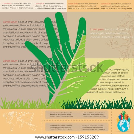 ecological infographics with tree. infographic concept - stock vector