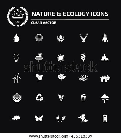 Ecology and nature icon set,vector - stock vector