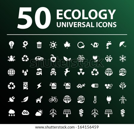 50 Ecology Icons. - stock vector