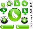 Ecology vector high-detailed icons. - stock