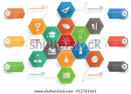 Education concept info graphic design,vector - stock vector