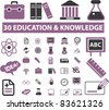 30 education & knowledge icons, signs, vector illustrations - stock vector
