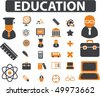 20 education signs. vector - stock vector