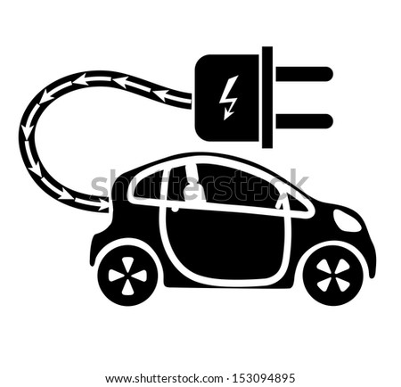 electric motor cars - stock vector