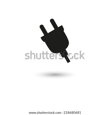 electric plug - vector icon - stock vector