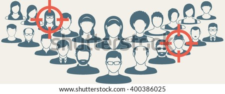 Employment issue and analyzing personnel resume.Vector concept for human resource management. Choosing the right person - stock vector
