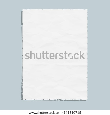 Empty white paper sheet. Vector EPS10 - stock vector
