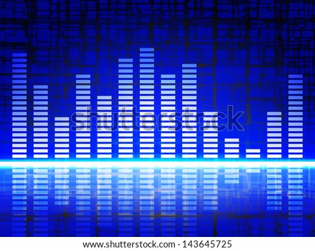 Equalizer Display - stock vector