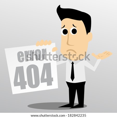 404 error - stock vector