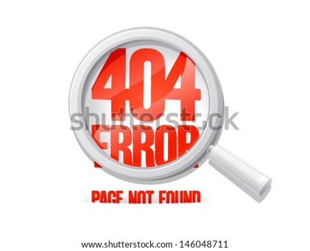 404 error, page not found. Design template. - stock vector