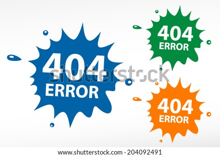404 error page not found abstract stock vector