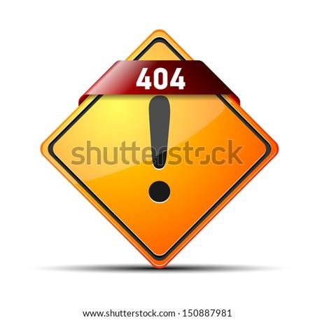 404 error sign - stock vector
