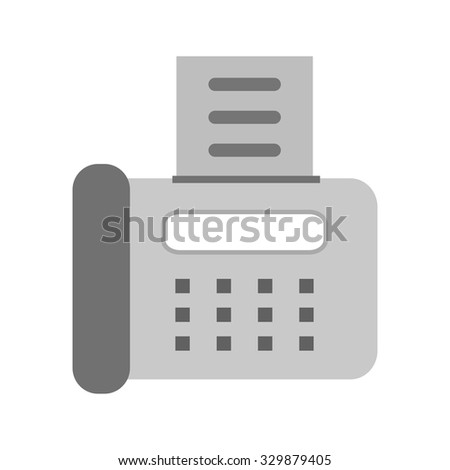 Fax machine, telephone, icon vector image. Can also be used for banking, finance, business. Suitable for web apps, mobile apps and print media. - stock vector