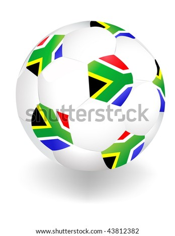 2010 FIFA World Cup South Africa ball - stock vector