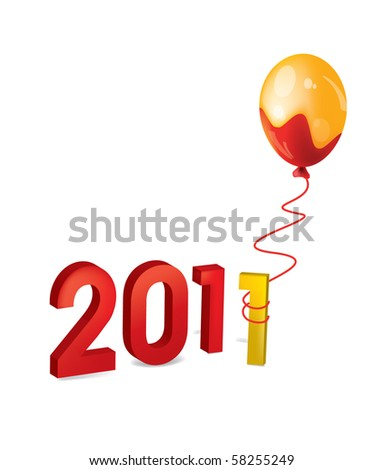 2011 figures new year Balloon vector shell occurrence