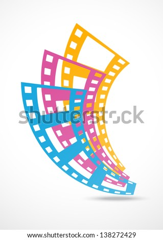 film strip abstract background - stock vector