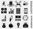 financial icon set, marketing icon set, - stock vector
