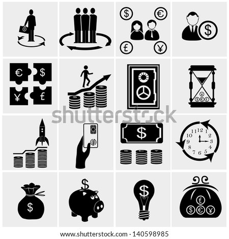financial icon set, marketing icon set,
