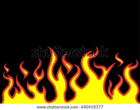 fire flames style cartoon stock vector 640418377 shutterstock rh shutterstock com cartoon flame ring cartoon frames template word