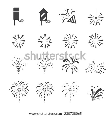 fireworks icon - stock vector