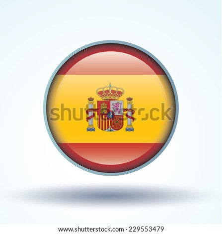 Flag of Spain, vector illustration - stock vector
