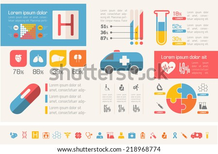 flat design vector medical infographic infographic stock vector