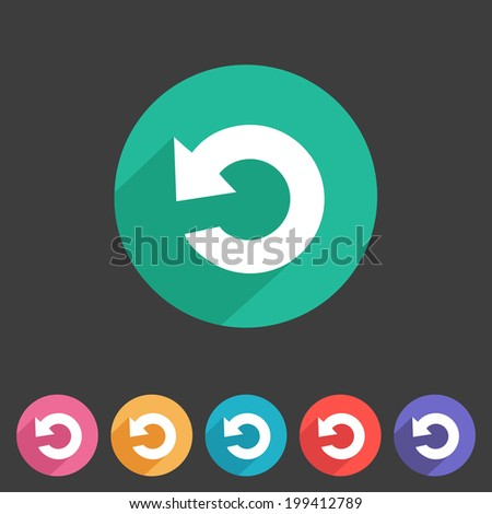 Flat game graphics icon repeat - stock vector