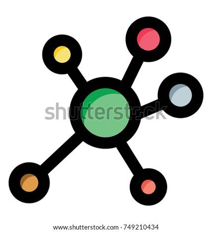 Flat vector icon symbol atom atomic stock vector 749210434 flat vector icon symbol of atom an atomic structure ccuart Gallery