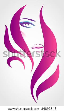 Floral woman - stock vector
