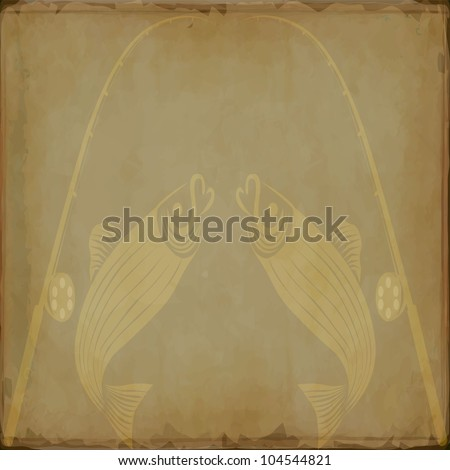 Fly fishing - stock vector